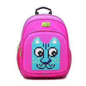Рюкзак школьный эргономичная спинка Пиксель 4ALL KIDS 39*27*17 см RK61-14N, розовый