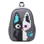 Рюкзак школьный Пиксель 4ALL Case Mini 35*24*12 см RC61-05N, серый