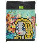 Мешок для обуви с карманом 430х340 мм 4ALL для девочки «Девочка Блонди» М61