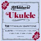 Струны для укулеле баритон D'Addario EJ87B Titanium