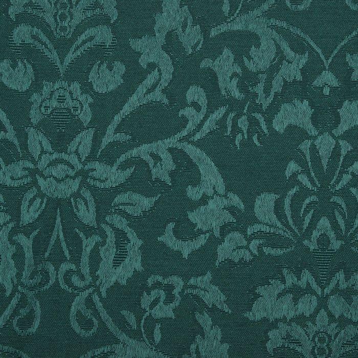 Ткань для столового белья с ГМО Роскошь ш.155 см, дл. 10 м, цвет тёмно-зелёный, пл. 198 г/м2