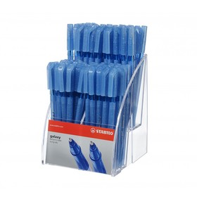 Ручка шариковая STABILO Galaxy 818, 0,7 мм, корпус с блестками, дисплей, стержень синий