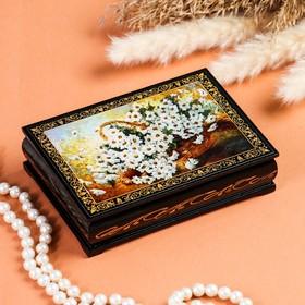 Шкатулка «Ромашки», 10×14 см, лаковая миниатюра