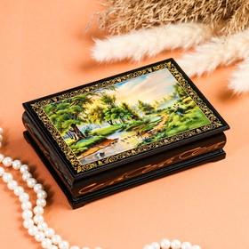 Шкатулка «Ручей», 10×14 см, лаковая миниатюра