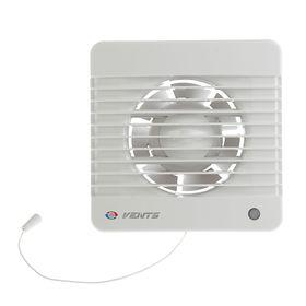Вентилятор вытяжной VENTS 100 МВ, d=100 мм, с шнурковым выключателем, цвет белый
