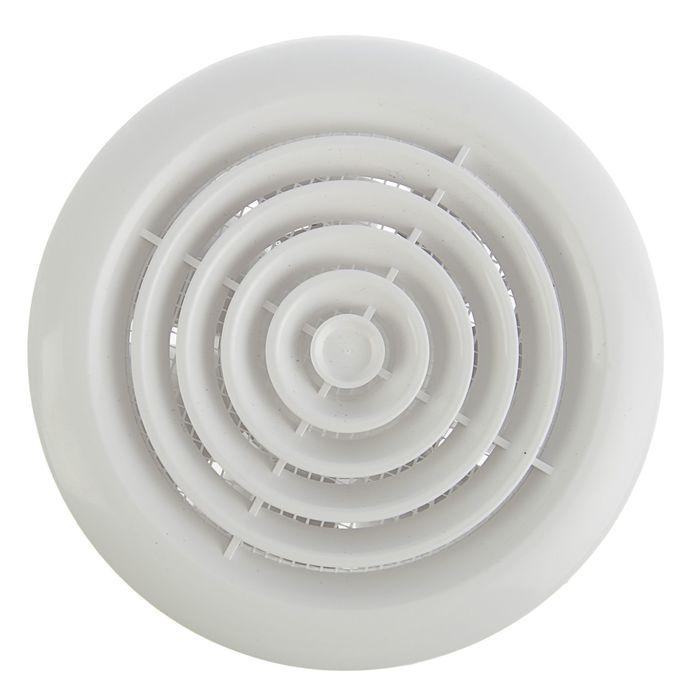 Вентилятор вытяжной VENTS 100 ПФ, d=100 мм, цвет белый