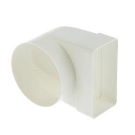 Соединитель прямоугольного и круглого канала VENTS, угловой, 55 х 110 х 100 мм