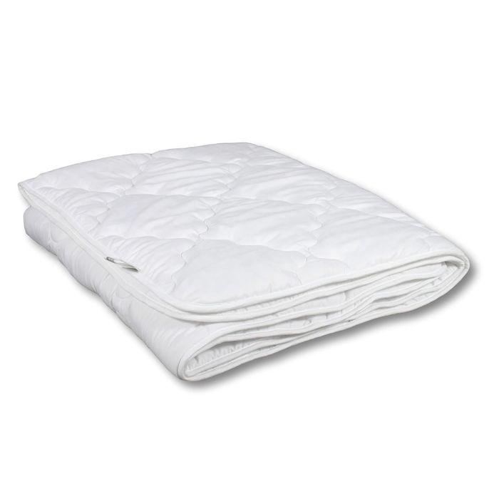 Одеяло Миродель Эконом легкое, синтетическое 140х205 см, 150гр/м, микрофибра белая