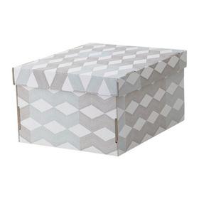 Коробка с крышкой, цвет белый, с рисунком СМЕКА