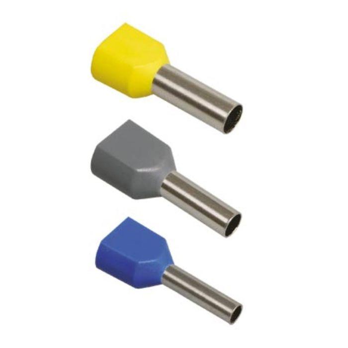 Наконечник-гильза IEK НГИ2 1.5-12, 2x1.5 кв. мм, изолированный, красный, уп. 100 шт, UTE10-D2-6-100