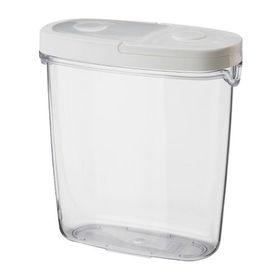 Контейнер+крышка для сухих продуктов, цвет прозрачный/белый ИКЕА/365+