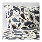 Пододеяльник и 1 наволочка, цвет белый, синий, СОТБЛОМСТЕР, размер 150х200 см, 50х70 см.