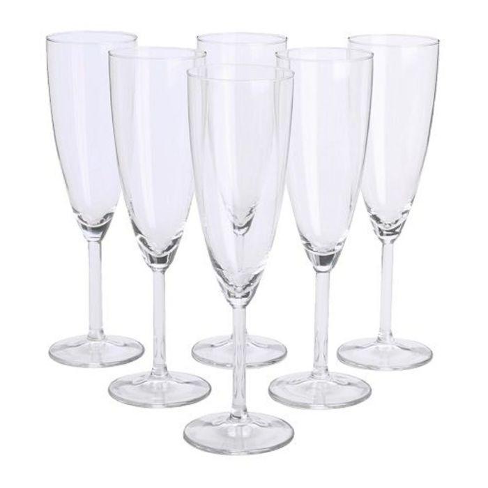 Бокал для шампанского СВАЛЬК, 6 шт, прозрачное стекло