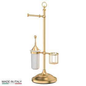 Стойка с тремя аксессуарами для туалета 80 cm, фарфор; матовое золото, 3SC