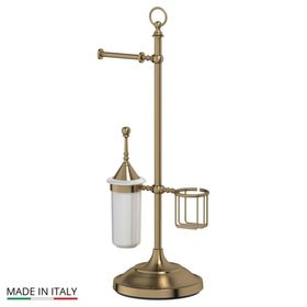 Стойка с тремя аксессуарами для туалета 80 cm, фарфор; античная бронза, 3SC