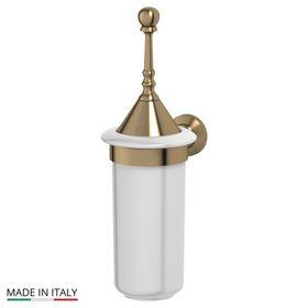 Держатель с туалетным ершом с крышкой, фарфор; античная бронза, 3SC