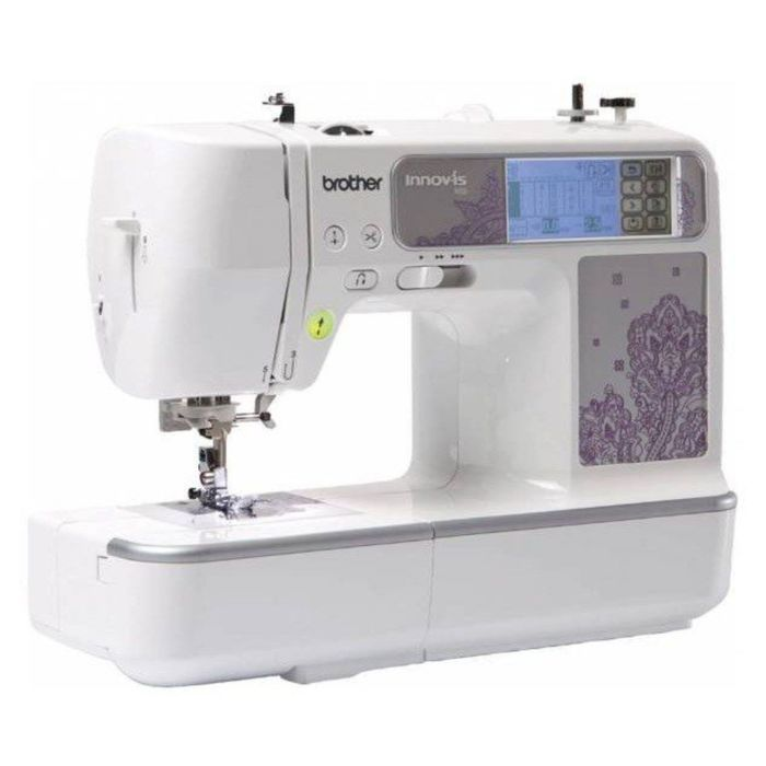 Швейно-вышивальная машина Brother NV950E, обметочная, эластичная, потайная строчка,белый