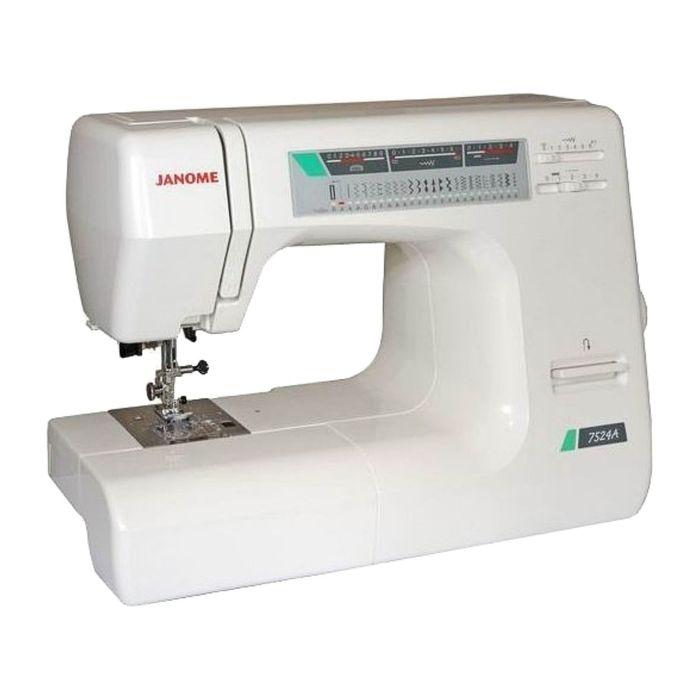 Швейная машина Janome 7524A, 23 опер, обметочная, эластичная, потайная строчка, белый