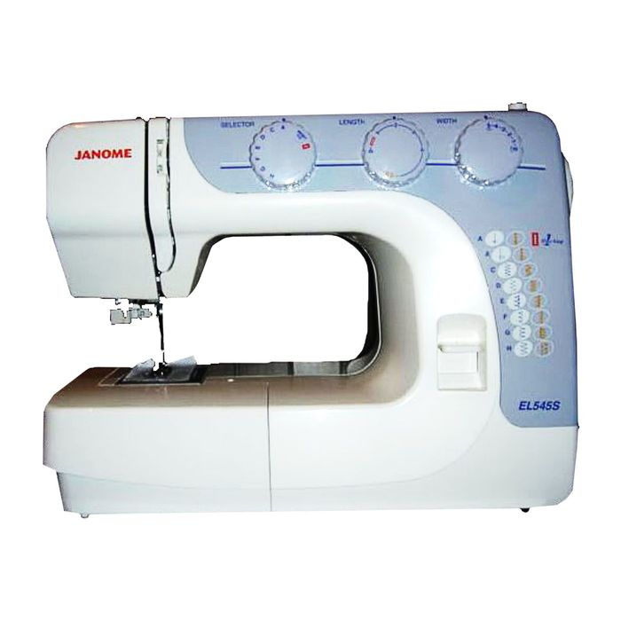 Швейная машина Janome EL545S, 17 опер, обметочная, эластичная, потайная строчка, белый