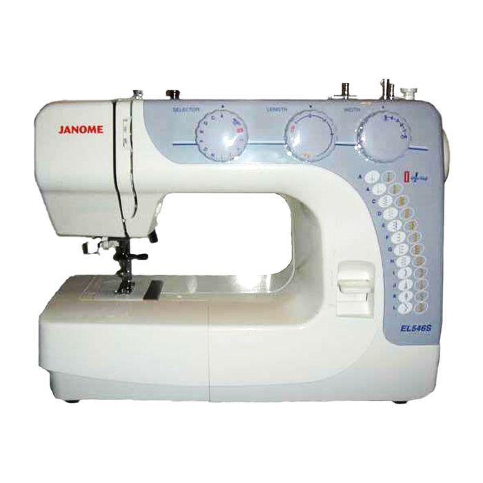 Швейная машина Janome EL546S, 24 опер, обметочная, эластичная, потайная строчка, белый