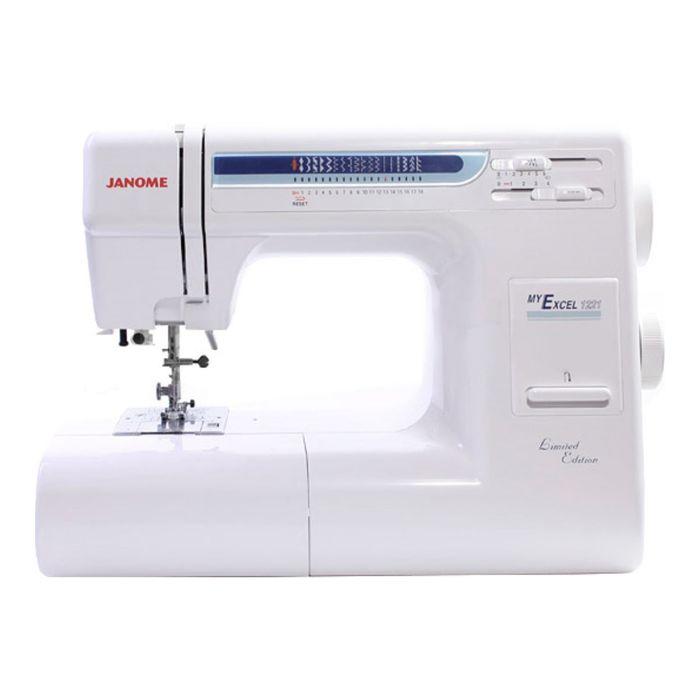Швейная машина Janome My Excel 1221, 18 опер, обметочная, эластичная, потайная строчка,белый 23955