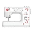 Швейная машина Janome Sakura 95, обметочная, эластичная, потайная строчка, белый/цветы
