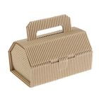 Коробка крафт из рифлёного картона, 14 х 8 х 7 см