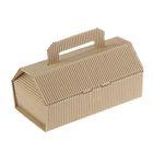 Коробка крафт из рифлёного картона, 20 х 10 х 9 см