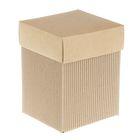 Коробка крафт из рифлёного картона, 11,5 х 11,5 х 15 см