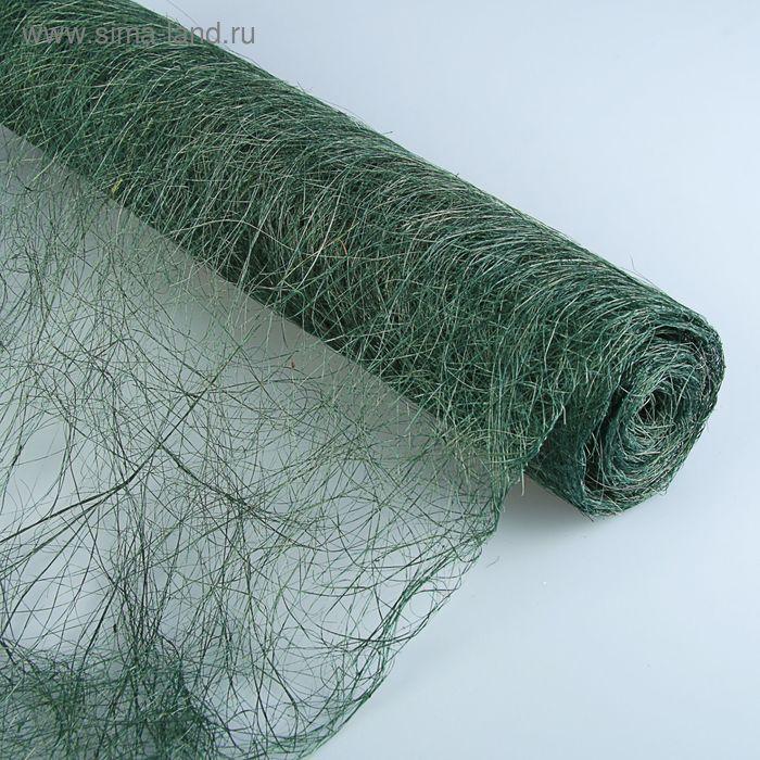 Абака натуральная тонкая, зеленая, 48 см х 4,5 м