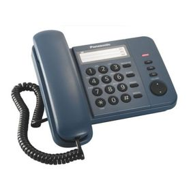 Телефон проводной Panasonic KX-TS2352RUC синий