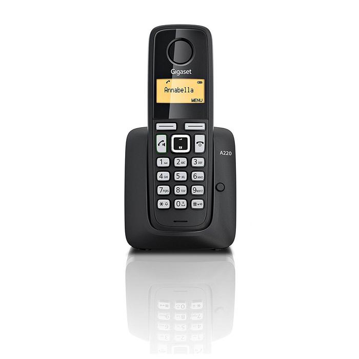 Радиотелефон Dect Gigaset A220A чёрный, автооветчик, АОН