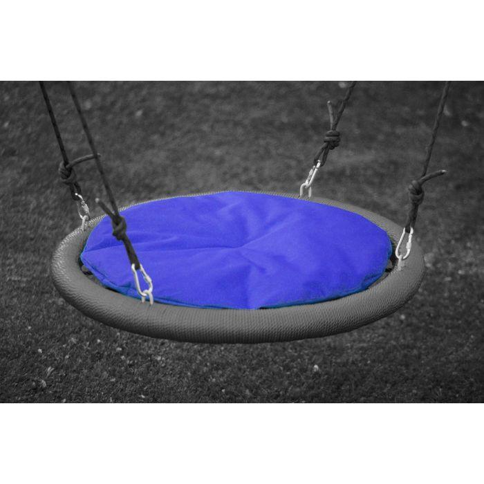 Подушка на качели гнездо 110 см, синяя