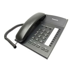 Телефон проводной Panasonic KX-TS2382RUB чёрный