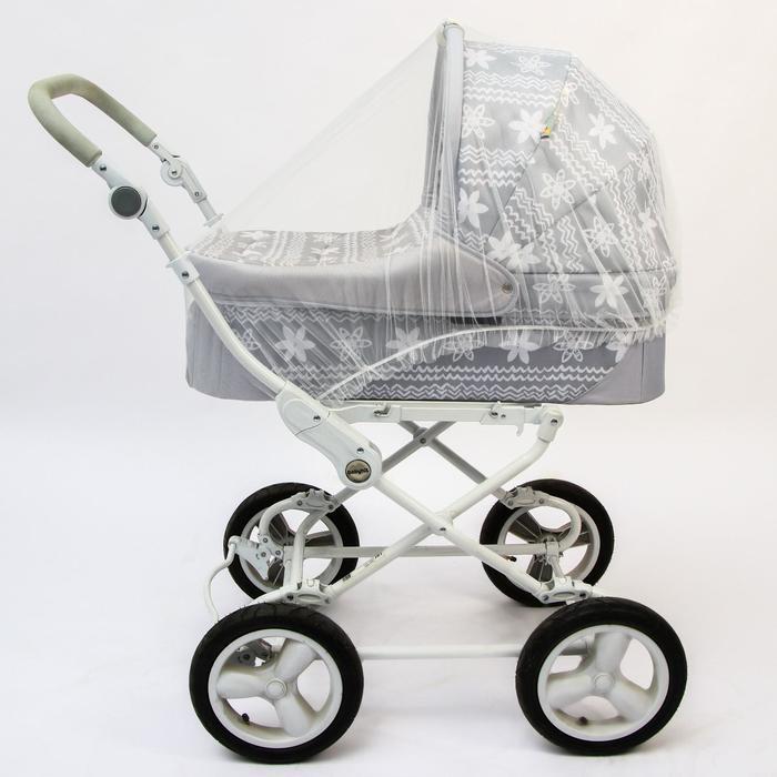Москитная сетка на коляску универсальная, цвет белый, 100х140 см - фото 105545843