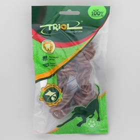 Кость Triol для собак, из жил, плетеная, с маслом лосося, 10см, 2х27-33 г.