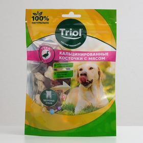 Косточки Triol для собак, кальцинированные, с уткой, 70 г.