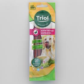 """Лакомство Triol """"Аппетитные колбаски"""" собак, из  утки, 40 г"""