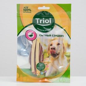 """Лакомства Triol """"Сытный сэндвич"""" для собак, утка, 70 г"""