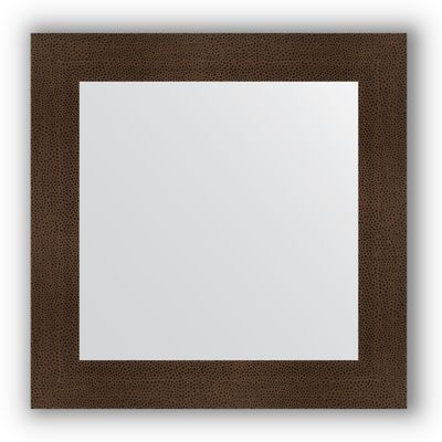 7e68121713d9 Зеркало в багетной раме - бронзовая лава 90 мм, 70 х 70 см, Evoform ...