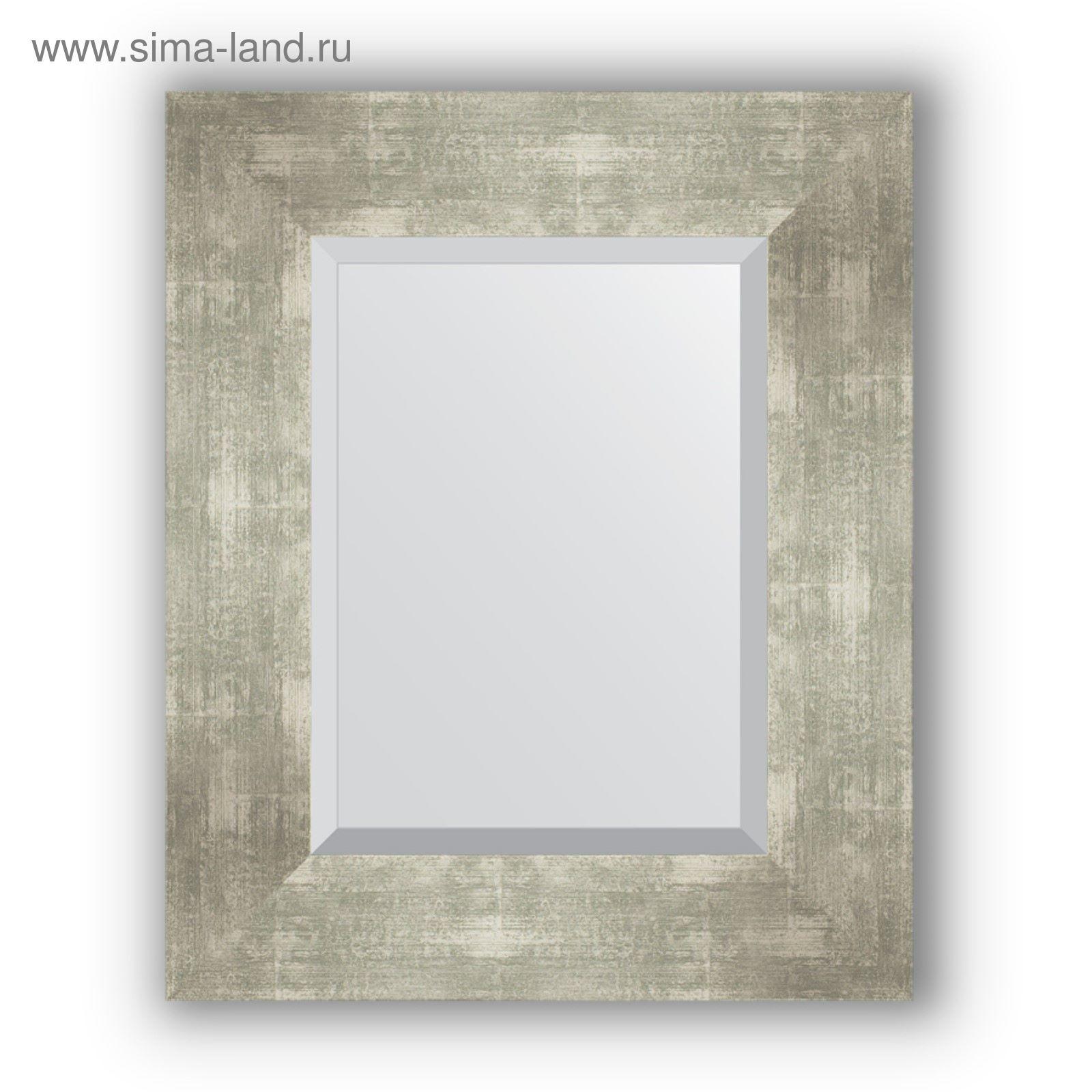 773a56f409da Зеркало с фацетом в багетной раме - алюминий 90 мм, 46 х 56 см ...
