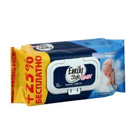 Влажные салфетки Emily Style, детские, 80 + 20 шт.