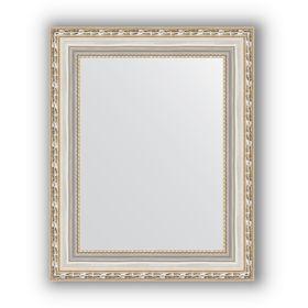 Зеркало в багетной раме - версаль серебро 64 мм, 42 х 52 см, Evoform