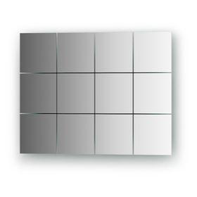 Зеркальная плитка со шлифованной кромкой - комплект 12 шт квадрат 10 х 10 см, серебро Evoform