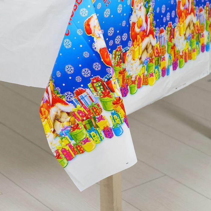 """Скатерть """"С Новым годом!"""", 137 × 182 см"""
