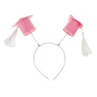 Карнавальный ободок «Бакалавр», цвет розовый