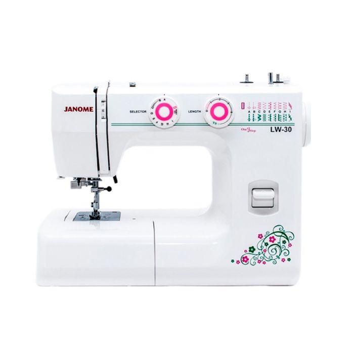 Швейная машина Janome LW-30, 19 операций, обметочная, потайная, эластичная строчка