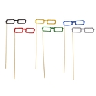 """Accessories for the photoshoot on a stick glasses """"Square"""", MIX colors"""