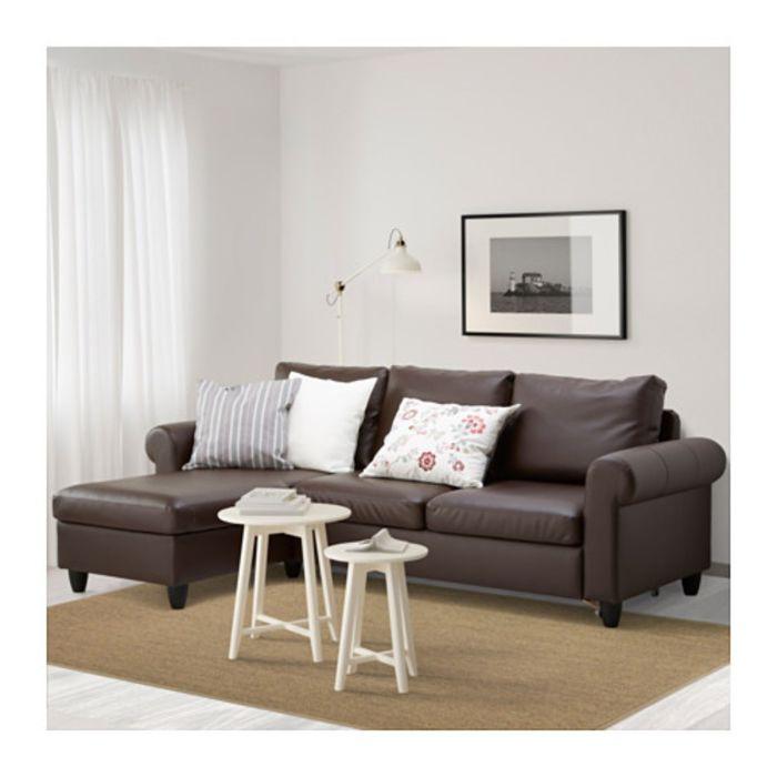 ... Диван-кровать с козеткой, Кимстад темно-коричневый ФИКСХУЛЬТ ... b38f46de147