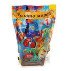 """Песок цветной """"Золото Морей"""" оранжево-голубой, 0,5-1мм, 1кг"""